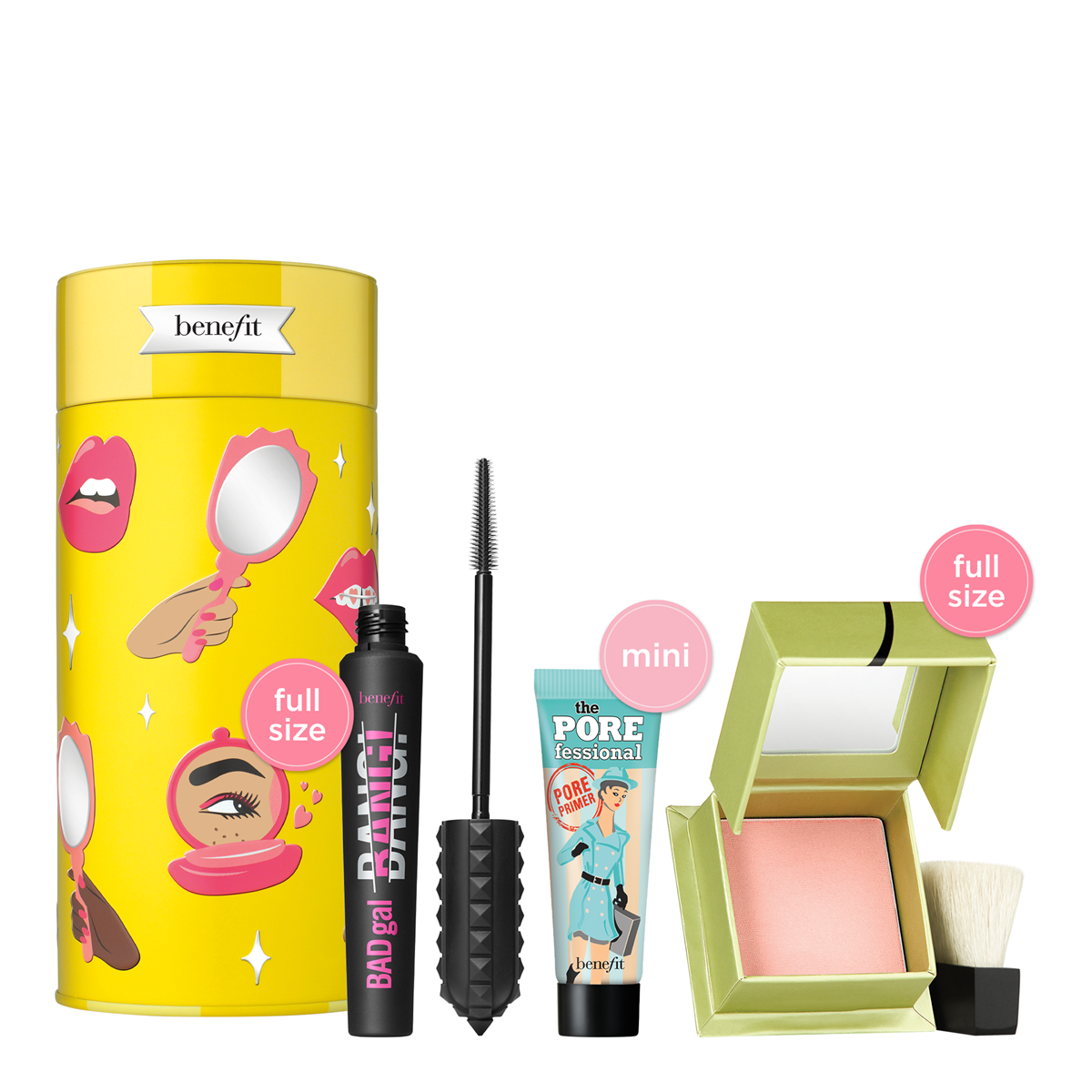 Benefit Cosmetics Life is a Pretty Party holiday product styled.